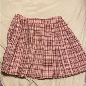 flair mini school skirt .
